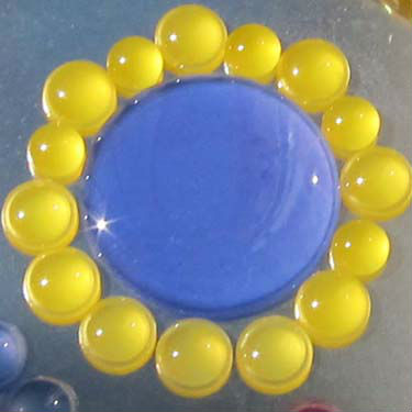 Эпоксикон фотохромный желтый и синий при дневном свете