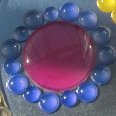Эпоксикон фотохромный синий и красный при дневном освещении